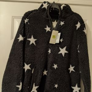 NWT Halcyon Star Teddy jacket Sherpa pullover